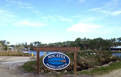 Photo of the Nocatee Kayak Launch Signage
