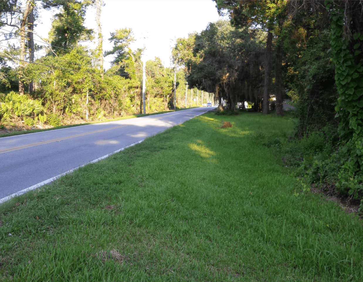 A stretch of road on Woodlawn Road