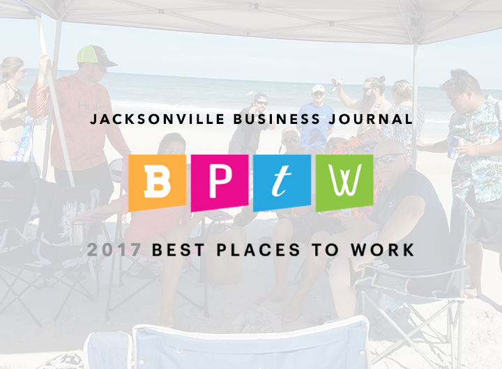 Jacksonville Business Journal BPTW 2017 Best Places to work logo