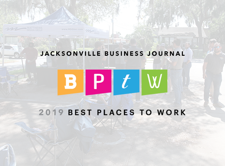 Jacksonville Business Journal BPTW 2019 Best Places to Work logo