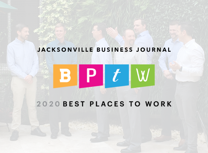 Jacksonville Buisness Journal 2020 Best Places to work logo