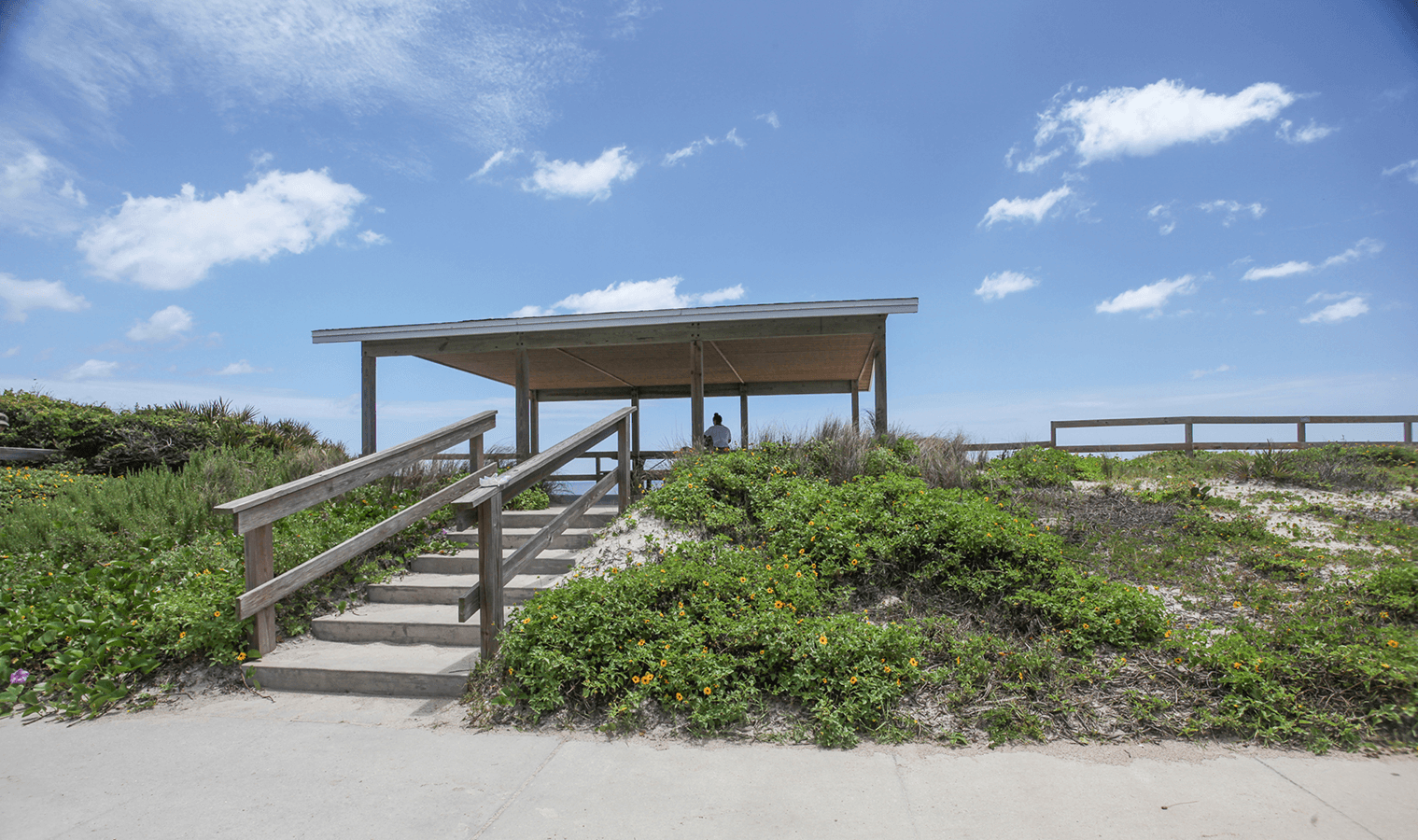 South Ponte Vedra Beach Pavilions stairs to the boardwalk