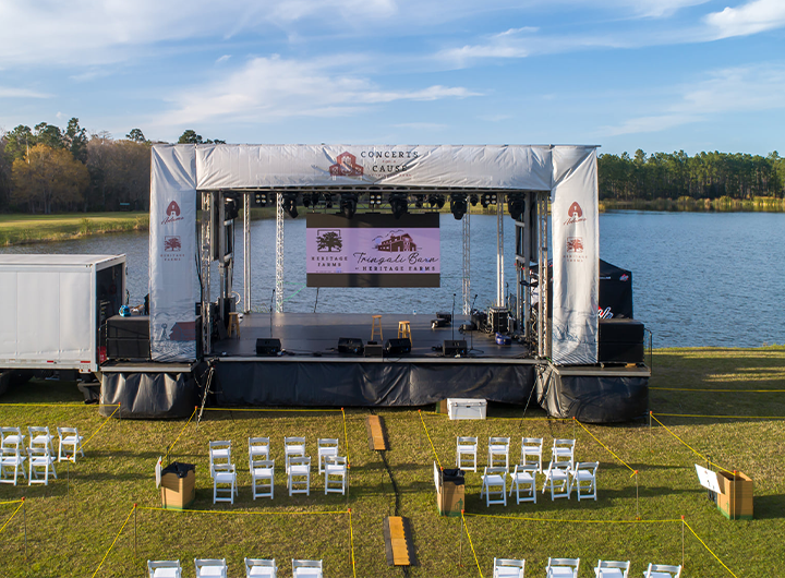 Concerts for a cause stage