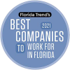 Florida Trend Best Companies to Work For in Florida 2021 Badge